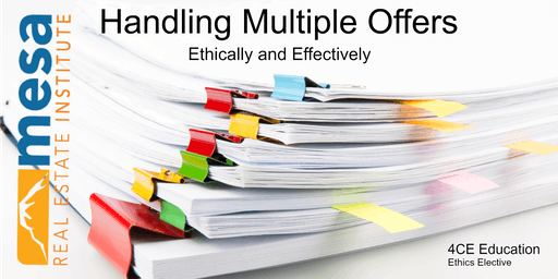 Handling Multiple Offers Ethically & Effectively*ONLY for REMAX Elite Brokers*
