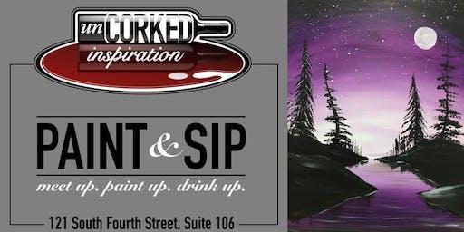 Paint & Sip | Purple Forest