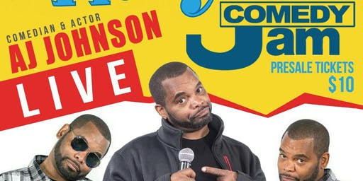 """FRIDAY NIGHT COMEDY JAM """"WHERE THEY AT"""" MY NECK MY BACK COMEDY TOUR STARRING AJ JOHNSON"""