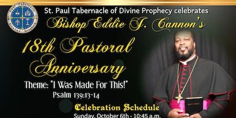 Bishop Eddie J. Cannon's Pastoral Anniversary Banquet tickets
