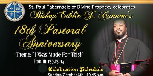 Bishop Eddie J. Cannon's Pastoral Anniversary Banquet