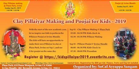 Kids Clay Pillaiyar (Ganesha) Making and Pooja  tickets
