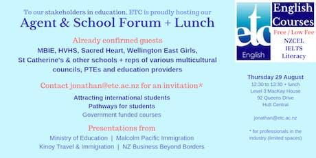 ETC Agent & School Forum, Wellington region tickets
