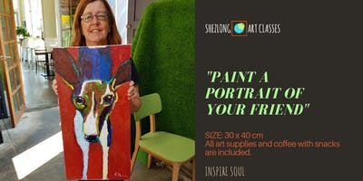 PAINT A PORTRAIT OF YOUR FRIEND-coffee and paint workshop