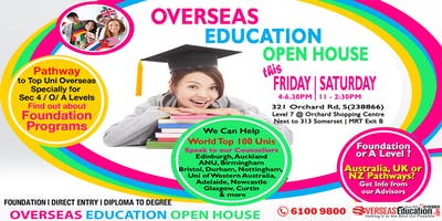 Overseas Education Open House (this Fri & Sat)