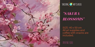 SAKURA BLOSSOM-coffee and paint workshop