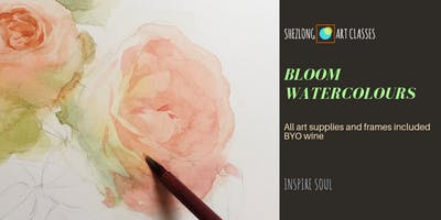 BLOOM WATERCOLOURS- social watercolour painting session