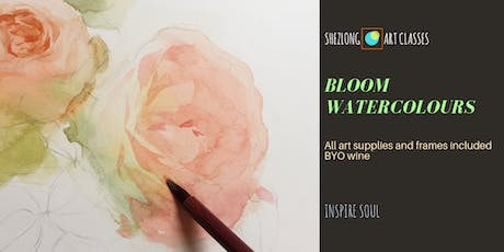 BLOOM WATERCOLOURS- social watercolour painting session tickets
