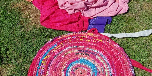 Fabric Rug Weaving