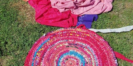 Fabric Rug Weaving