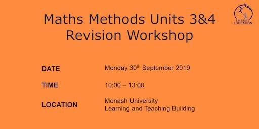 Maths Methods Units 3&4 Revision Workshop 2019