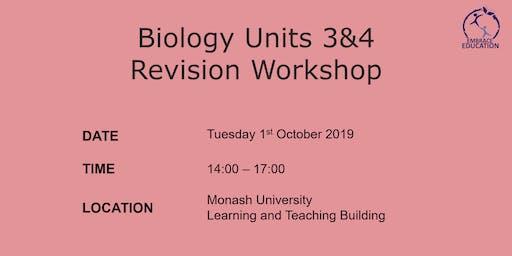Biology Units 3&4 Revision Workshop 2019