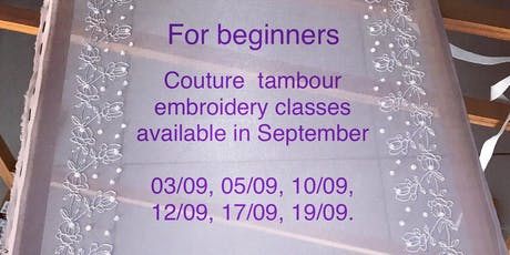 Couture tambour embroidery tickets