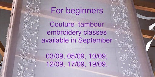 Couture tambour embroidery