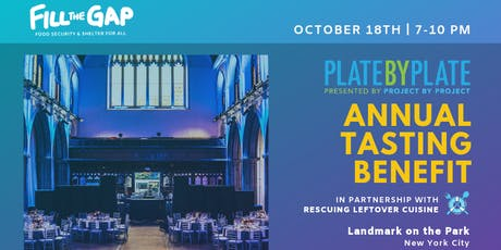 2019 Plate by Plate NYC: Fill the Gap tickets