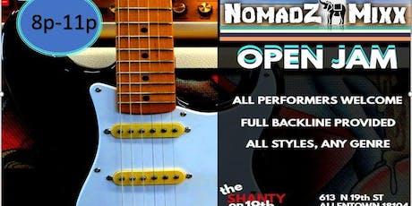 NomadZ MiXX Open Jam - Full Backline Provided tickets