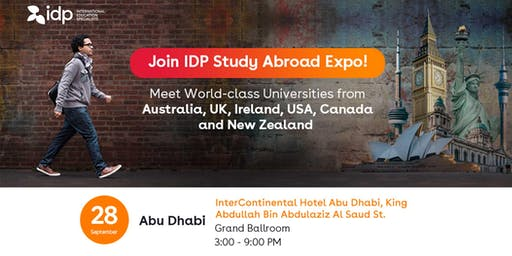 Join IDP Study Abroad Expo in Abu Dhabi!