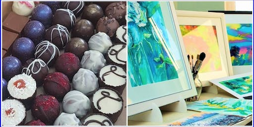 Chocolate and Art Social Evening  with local Stockport artisans and artist