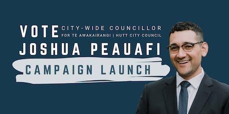 Joshua Peauafi for Hutt City Council Campaign Launch & Showcase tickets