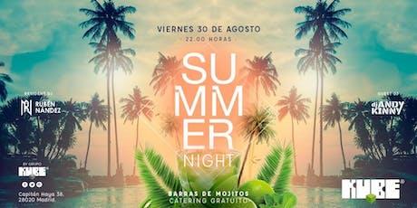 Summer Night @Kube con entrada y catering gratuito tickets