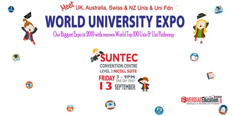 World Uni Expo @ Suntec Fri 13 Sep Level 3 Nicoll Suite tickets