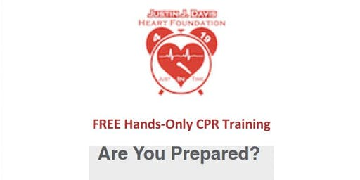 Justin J. Davis Heart Foundation Hands-Only CPR Training.