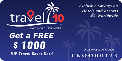 Travel 10 Save & Earn on Travel Bookings (AS)