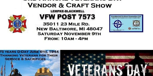 3rd Annual Veterans Day Vendor and Craft Show