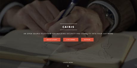 Usable and Secure Requirements Engineering with CAIRIS tickets