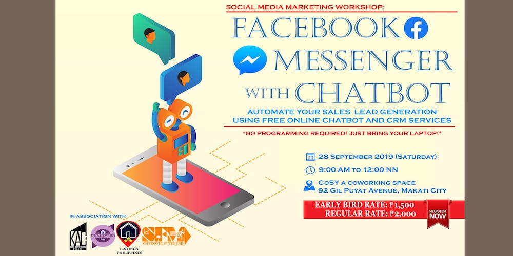 Facebook Messenger with Chatbot Workshop Tickets, Sat, Sep