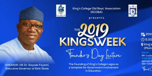 KINGSWEEK 2019 BY KING'S COLLEGE OLD BOYS' ASSOCIATION