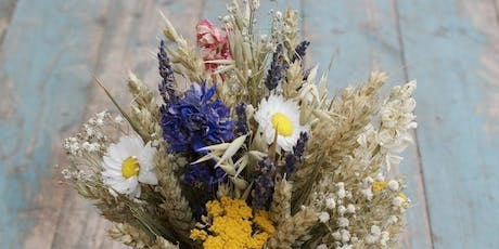 Floral table decorations - Jam Jar Posies Class - with Women's Institute tickets
