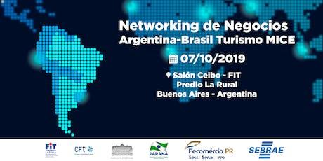 NETWORKING DE NEGOCIOS ARGENTINA BRASIL - TURISMO MICE entradas