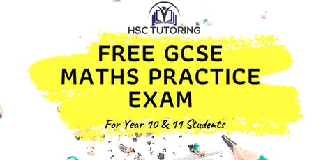 FREE GCSE Maths Practice Exam tickets