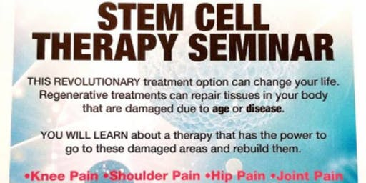 Free Stem Cell Seminar(Get Relief Without Surgery)