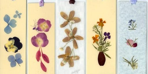 Kids Flower Press & Bookmark Making