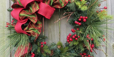 Wine  and Design - Floral Design Class, Holiday Wreath Design tickets