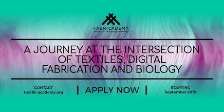"""Presentazione """"Fabricademy: a new textile academy"""" biglietti"""