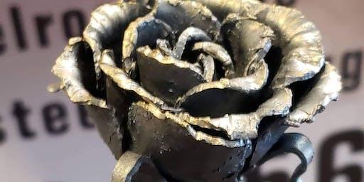 Beginner blacksmith,flower build