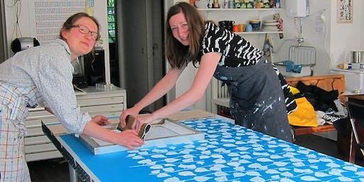 Musterdruckkurs - Siebdruckkurs für großflächige Textildrucke