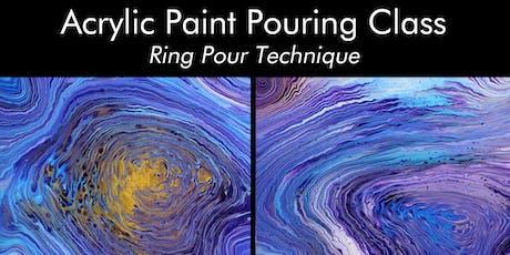 Acrylic Paint Pouring Class - Ring Pour Technique tickets