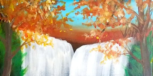 Fall Waterfall Painting at Brennan's