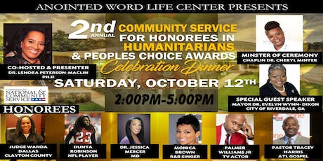 2nd Annual Community Sevice For Humanitarian & People Choice Awards tickets