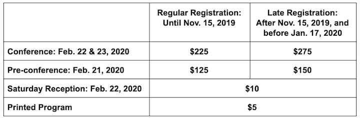 2020 CPM Teacher Conference Registration, Fri, Feb 21, 2020