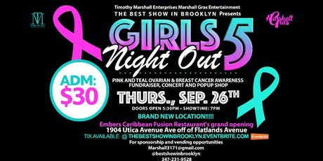 """Girls Night Out"" Pink and Teal Ovarian and Breast Cancer Awareness, Fundraiser, Concert and Pop-Up Shop tickets"