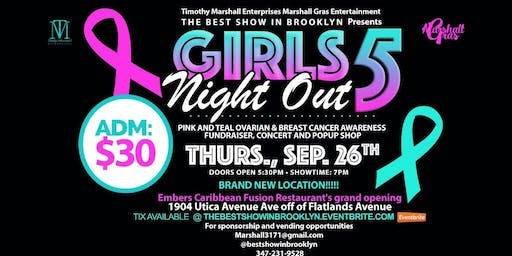"""""""Girls Night Out"""" Pink and Teal Ovarian and Breast Cancer Awareness, Fundraiser, Concert and Pop-Up Shop"""