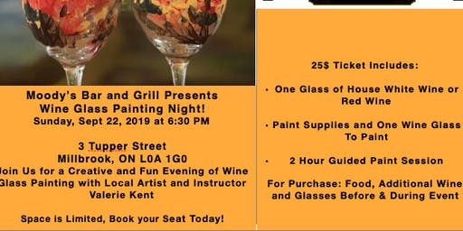 Moody's Bar and Grill Presents: Wine Glass Painting Night!