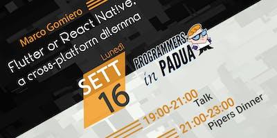 Flutter or React Native, a cross-platform dilemma - Programmers in Padua