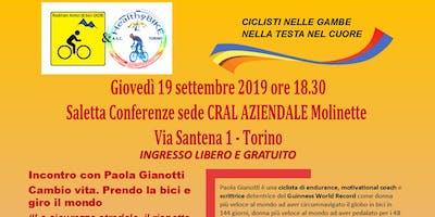 Paola Gianotti cambio vita e in bici giro il mondo
