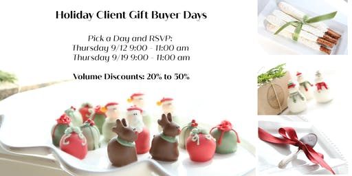 Holiday Client Gift Buyer Days (limit 50 buyers per day)
